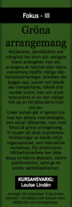 gröna arr